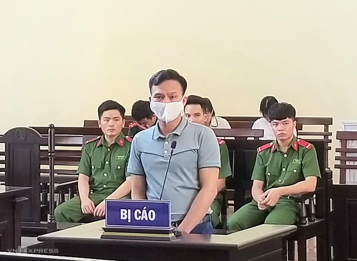 Bị cáo Huy tại phiên tòa sáng 29/7. Ảnh: Thanh Lam