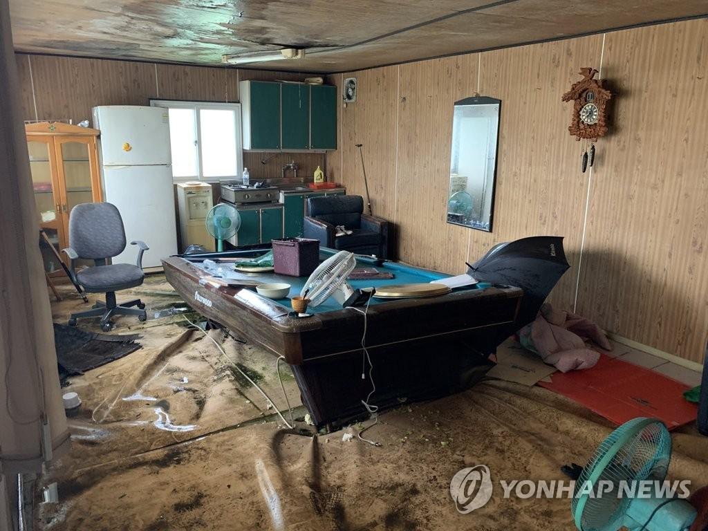 Ngôi nhà ở khu vực Geomdan, thành phố Incheon, nơi cảnh sát bắt hai người Việt. Ảnh: Yonhap