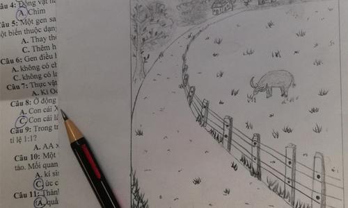 Thủy Tiên yêu đời khi nhìn tranh con vẽ - 12