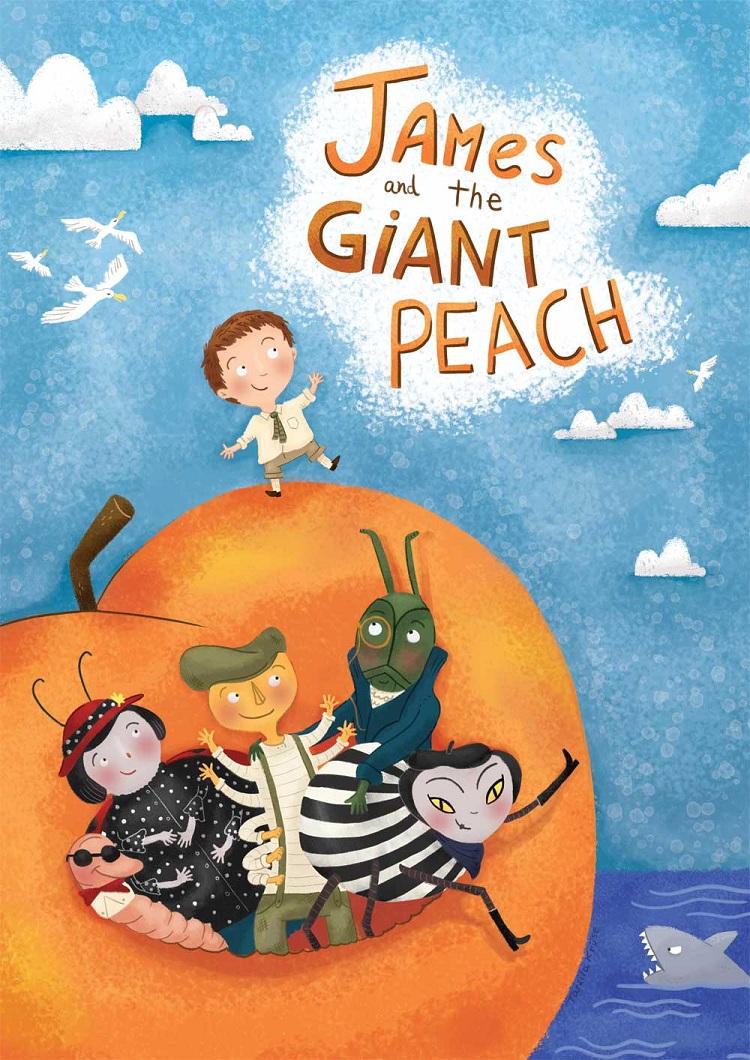 Cuốn tiểu thuyết James and the Giant Peach. Ảnh: Jam Art Prints