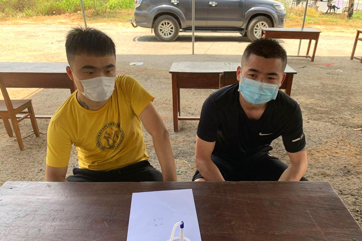 Hai người Trung Quốc nhập cảnh trái phép vào Việt Nam. Ảnh; Anh Hùng