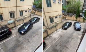Tài xế lái xe đi vì không thể lùi chuồng
