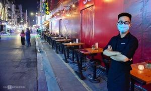 Nhà hàng, quán bar ở phố Bùi Viện đóng cửa