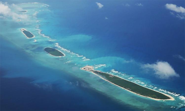 Các thực thể trong nhóm đảo Bắc thuộc quần đảo Hoàng Sa của Việt Nam. Ảnh: AFP.