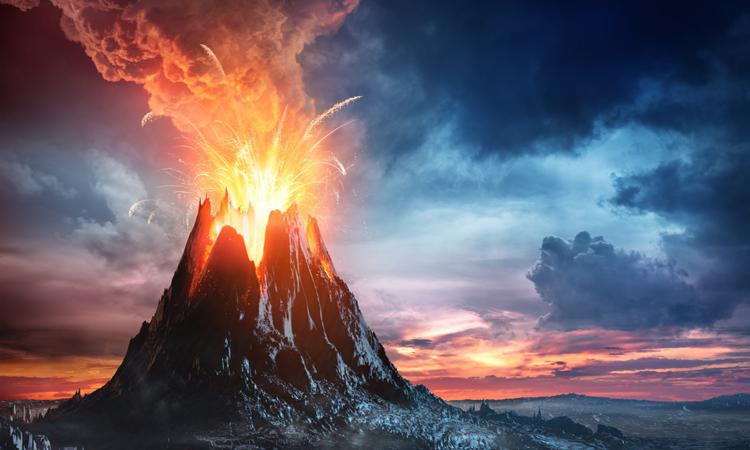 Núi lửa phun trào đẩy Bắc bán cầu trở lại kỷ băng hà. Ảnh: Earth.