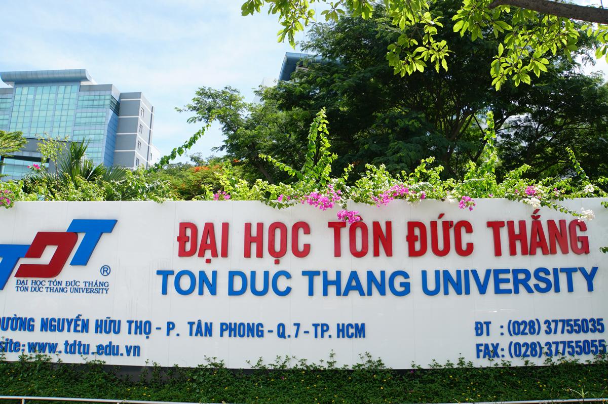 Trụ sở chính Đại học Tôn Đức Thắng tại quận 7, TP HCM. Ảnh: Mạnh Tùng.