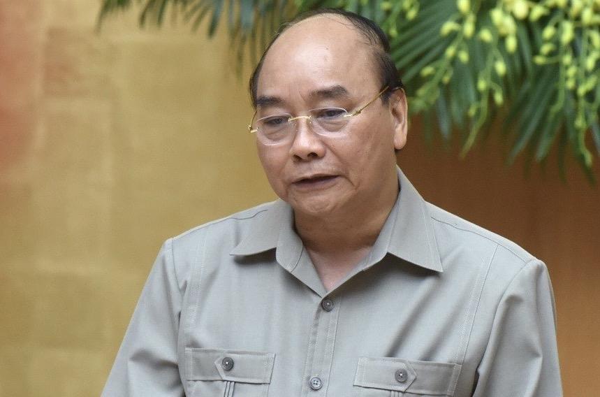 Thủ tướng Nguyễn Xuân Phúc phát biểu tại cuôc họp Thường trực chính phủ chiều 2/8. Ảnh: Hoàng Phong.