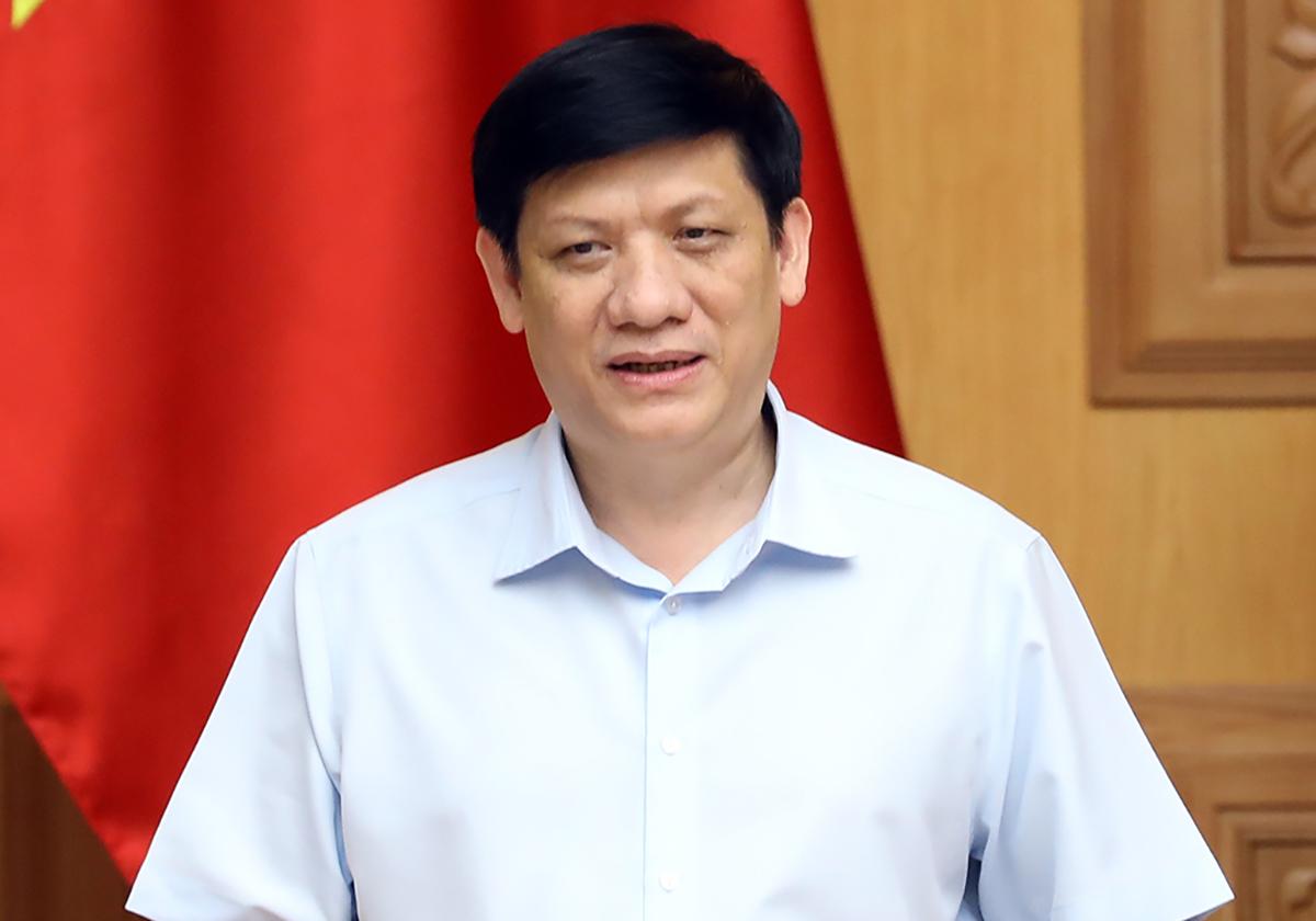 Ông Nguyễn Thanh Long, quyền Bộ trưởng Y tế phát biểu tại họp Ban chỉ đạo quốc gia phòng chống Covid-19, sáng 2/8. Ảnh: Đình Nam