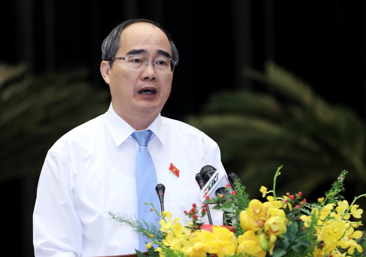 Bí thư Thành uỷ TP HCM Nguyễn Thiện Nhân. Ảnh: Như Quỳnh.