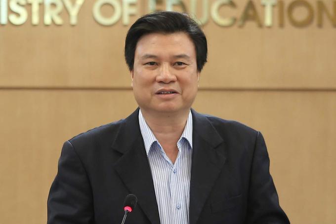 Thứ trưởng Giáo dục và Đào tạo Nguyễn Hữu Độ. Ảnh: MOET