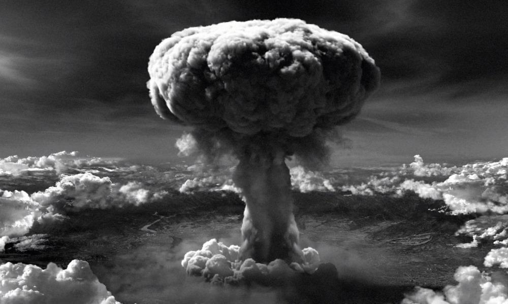 Quả bom nguyên tử thả xuống Hiroshima ngày 6/8/1945. Ảnh: Cơ quan Lưu trữ Quốc gia Mỹ.