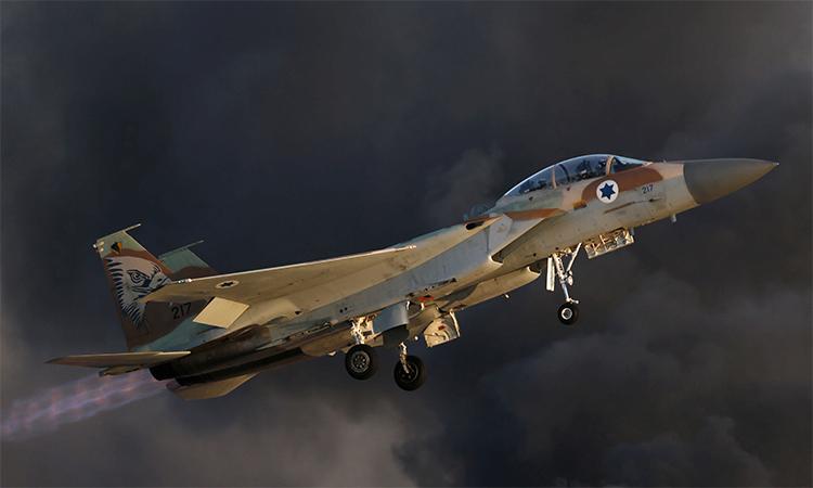 Tiêm kích F-15 của Israel cất cánh. Ảnh: Reuters.