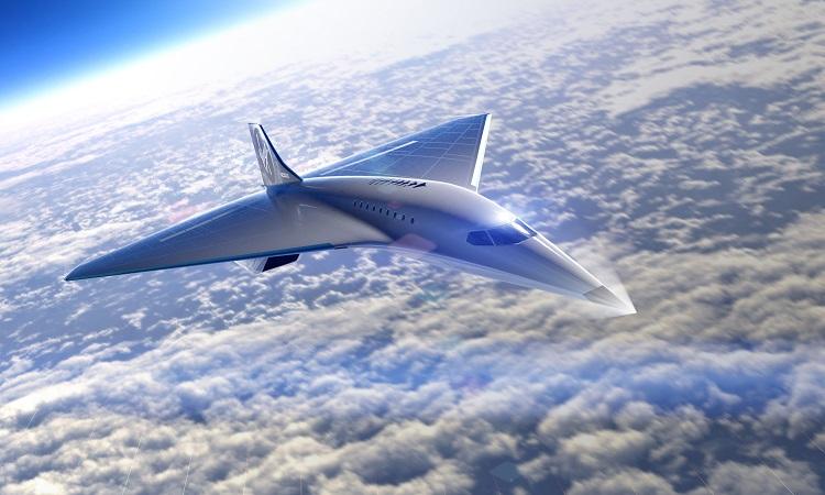 Thiết kế máy bay siêu thanh của Virgin Galactic. Ảnh: CNN.
