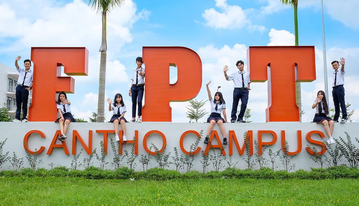 Một góc của trường THPT FPT Cần Thơ.