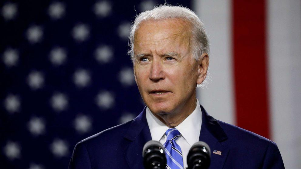 Ứng viên tổng thống đảng Dân chủ Joe Biden phát biểu tại buổi vận động tranh cử ở Wilmington, bang Delaware, Mỹ, hôm 14/7. Ảnh: Reuters.