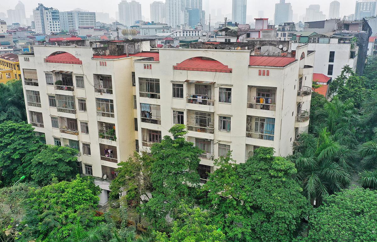 Khu nhà công vụ ở Hoàng Cầu, Hà Nội. Ảnh: Giang Huy