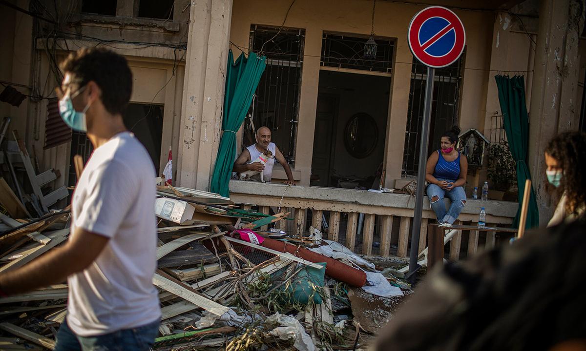 Khung cảnh đổ nát, hoang tàn ở Beirut hôm 6/8. Ảnh: NYTimes.