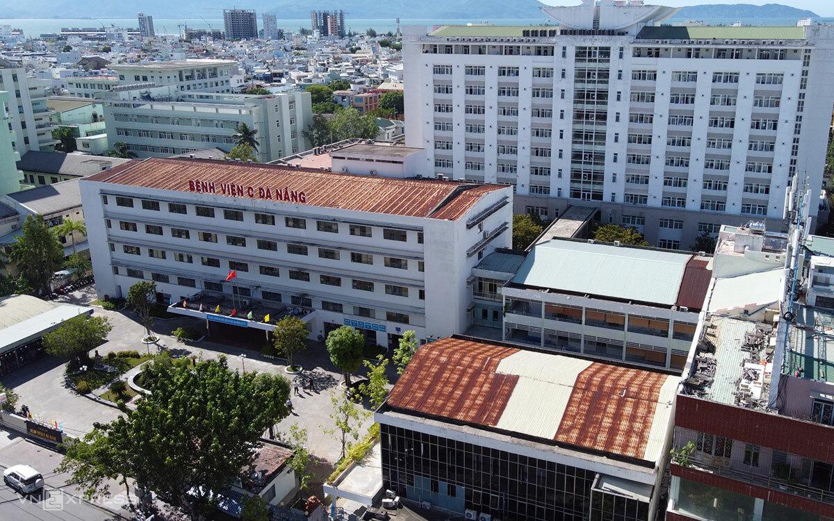 Bệnh viện C Đà Nẵng nhìn từ trên cao. Ảnh: Thanh Hiếu.