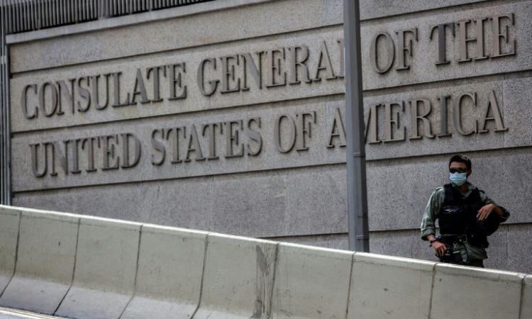 Tổng lãnh sự quán Mỹ cho Hong Kong và Macau nằm tại khu Central của Hong Kong. Ảnh: AFP.