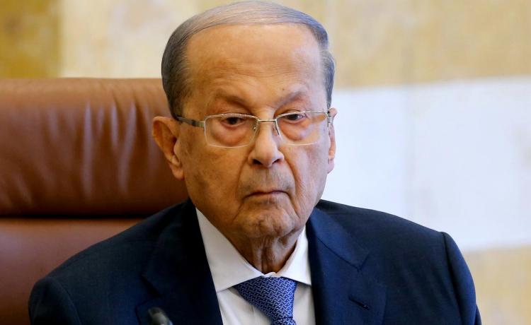 Tổng thống Lebanon Michel Aoun chủ trì phiên họp nội các tại dinh Baabda hồi tháng 10/2019. Ảnh: Reuters.