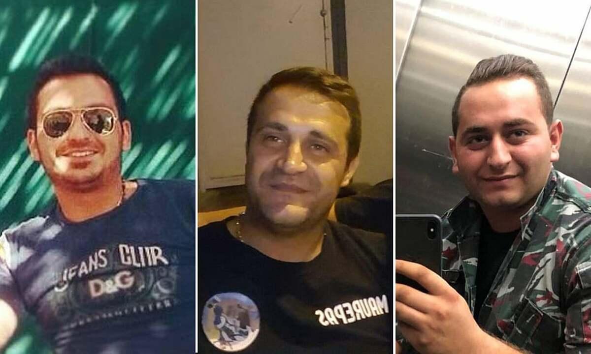 Từ trái sang: 3 lính cứu hoả Najib Hatti, Charbel Karam và Charbel Hatti. Ảnh: Guardian