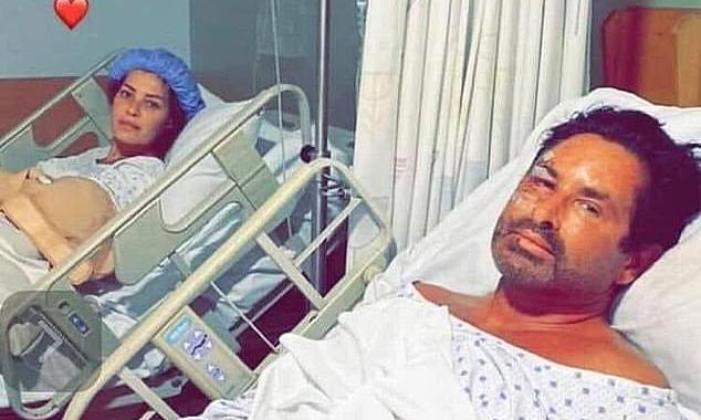 Vợ chồng Imad và Lema bị thương sau vụ nổ. Ảnh: Imad
