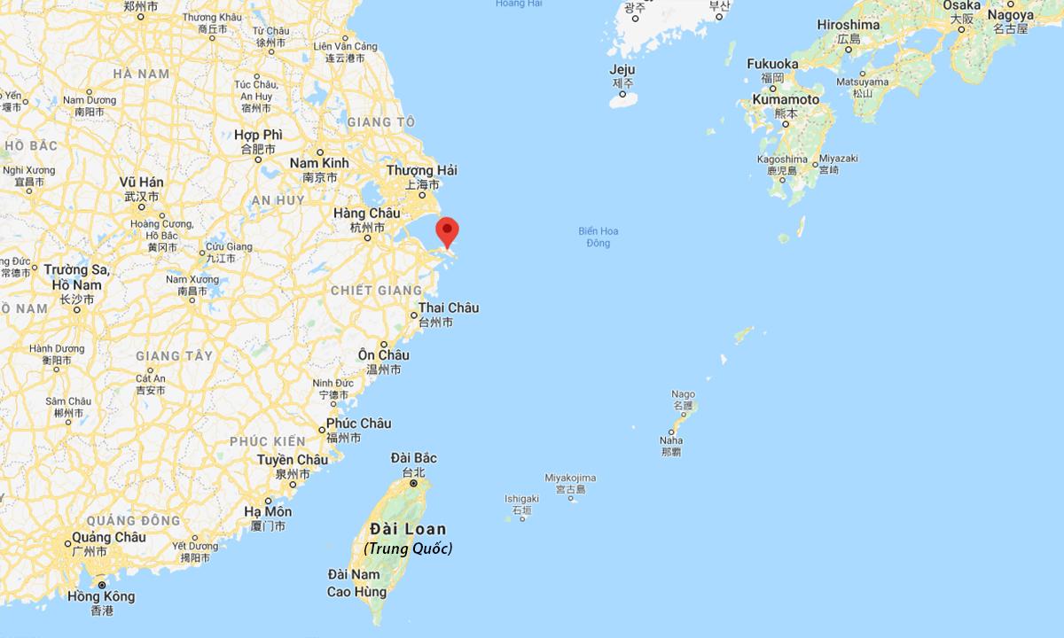 Vị trí quần đảo Chu Sa (đánh dấu đỏ). Đồ họa: Google.