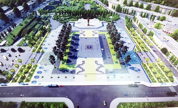 Phối cảnh quảng trường hơn 8 ha tại Đảo Phú Quốc. Ảnh: Dương Đông