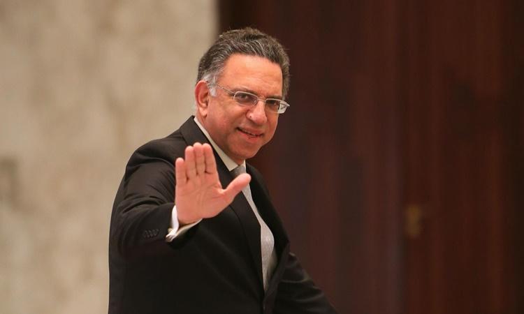 Bộ trưởng Môi trường Lebanon Damianos Kattar. Ảnh: AFP.