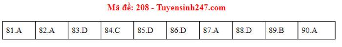 Đáp án 24 mã đề Sinh thi tốt nghiệp THPT - 8