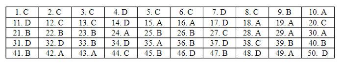 Đề và đáp án tiếng Anh thi tốt nghiệp THPT - 10