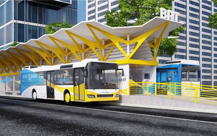 Phối cảnh trạm BRT Số 1. Ảnh: Ảnh: UCCI.