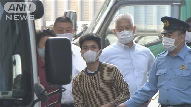 Le Thanh Hoang khi bị cảnh sát bắt ở Machida hôm 6/8. Ảnh: ANN News