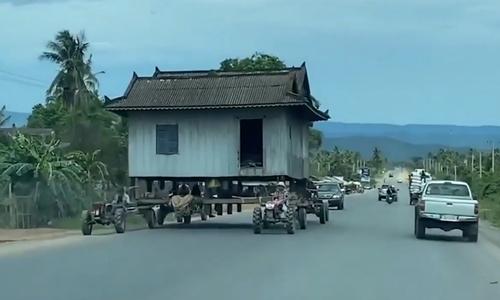 Ngôi nhà đi bộ trên đường làng - 1