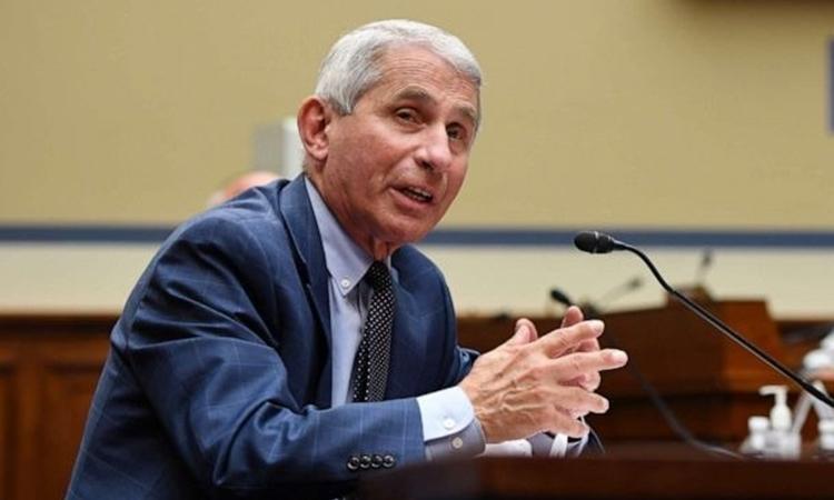 Chuyên gia y tế Anthony Fauci tại một cuộc họp ở thủ đô Washington, Mỹ, hôm 31//7. Ảnh: Reuters.
