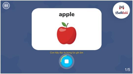 Phần mềm ứng dụng công nghệ nhận diện giọng nói giúp bé luyện phát âm chuẩn.