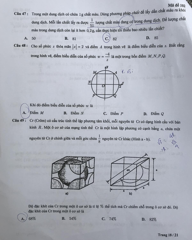 Đề kiểm tra tư duy vào Đại học Bách khoa Hà Nội - 34