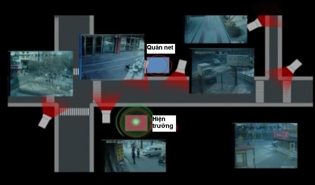Hệ thống camera xung quanh hiện trường. Ảnh: CCTV.