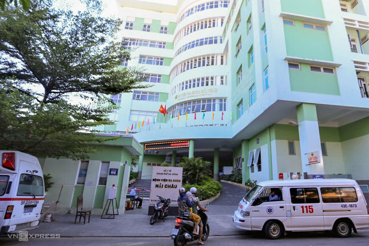 Trung tâm Y tế quận Hải Châu bị phong toả từ trưa 5/8. Ảnh: Đông Nam
