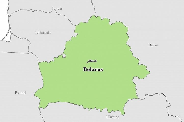 Vị trí của Belarus. Đồ họa: Graphic Maps.