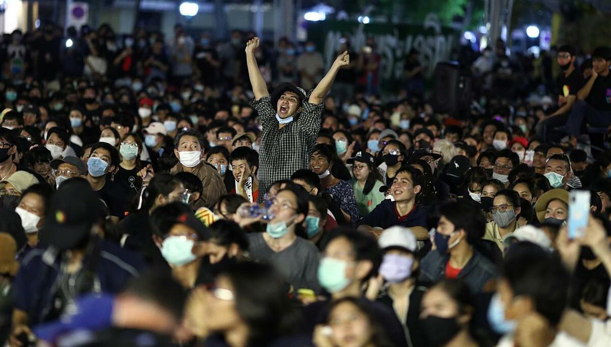 Người tham gia biểu tình ở thủ đô Bangkok, Thái Lan, hôm 16/8. Ảnh: Reuters.