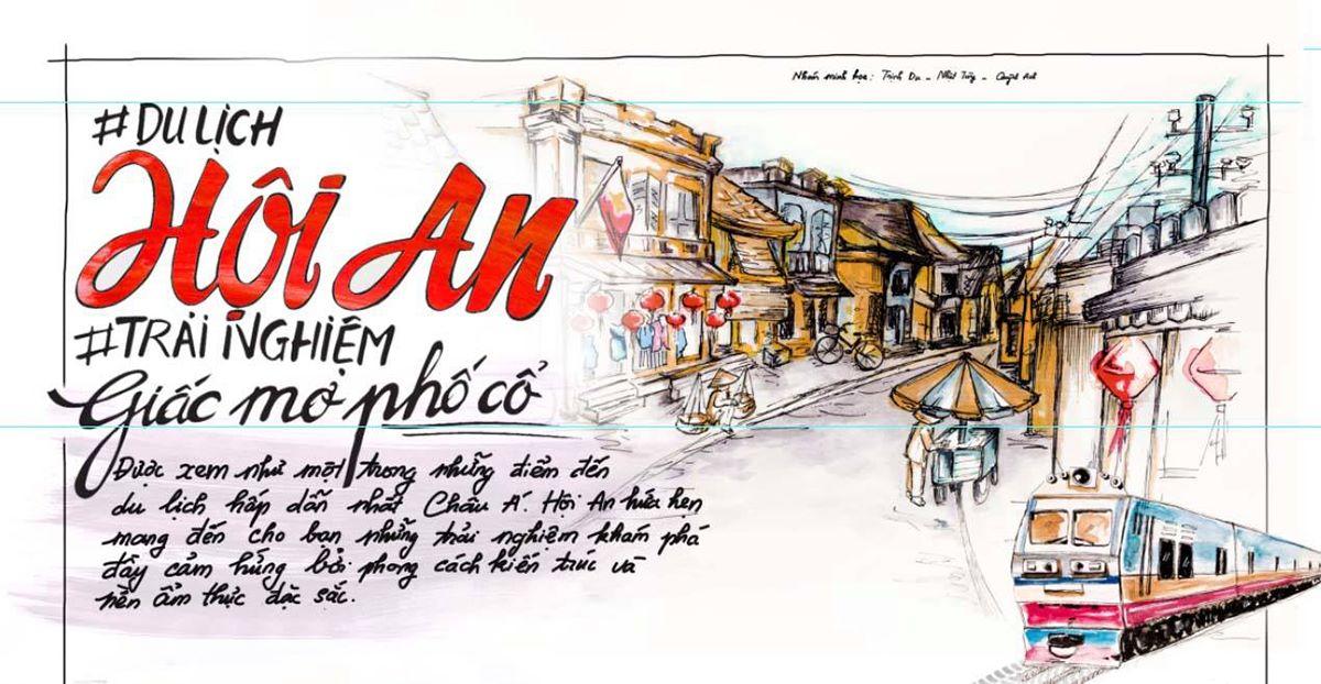 Hội An - trải nghiệm giấc mơ phố cổ do Quỳnh Anh, Nhật Tùng và Trịnh Du thực hiện trong môn học ở trường.