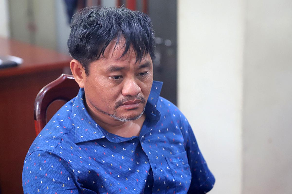 Đỗ Văn Minh lúc bị bắt hồi tháng 5. Ảnh: Ngọc Oanh.