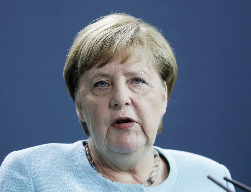 Thủ tướng Angela Merkel tại Berlin ngày 19/8. Ảnh: Reuters.
