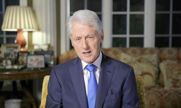 Cựu tổng thống Bill Clinton trong video phát biểu tại hội nghị quốc gia đảng Dân chủ tối 18/8. Ảnh: CNN.