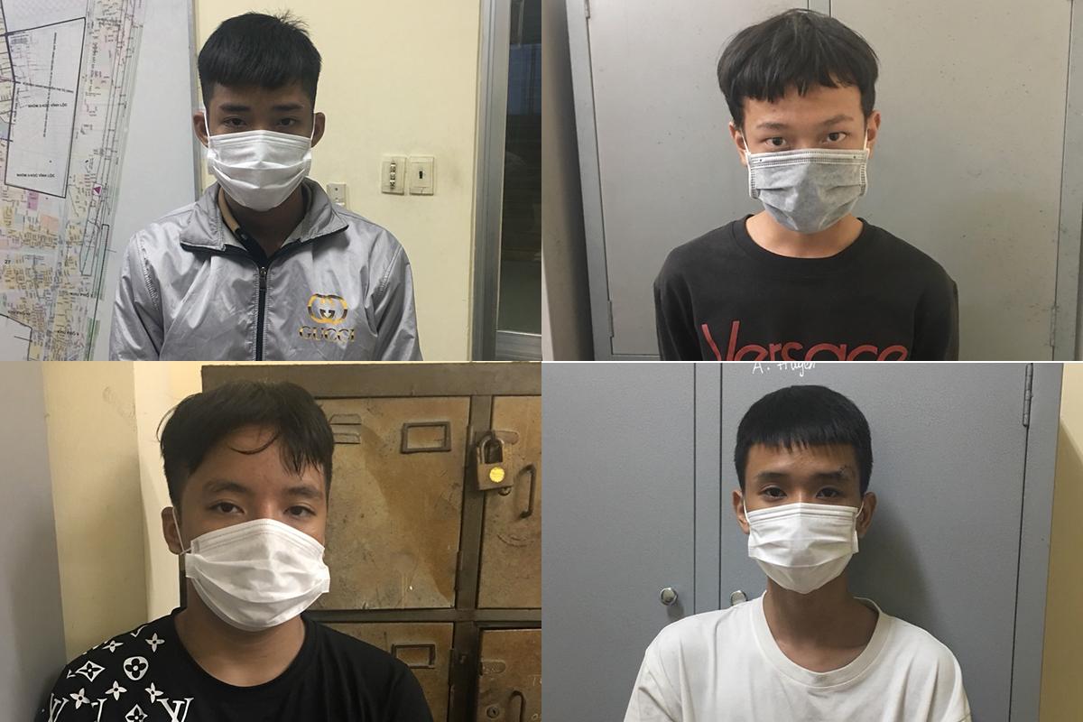 Một số thành viên chủ chốt trong băng cướp. Ảnh: Nhật Vy.