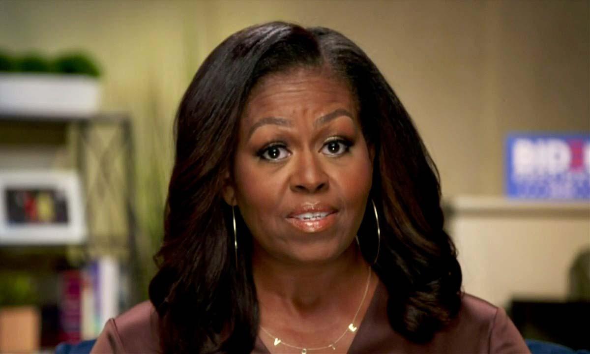Cựu đệ nhất phu nhân Mỹ Michelle Obama phát biểu tại Hội nghị Toàn quốc đảng Dân chủ được tổ chức trực tuyến hôm 17/8. Ảnh: Reuters.