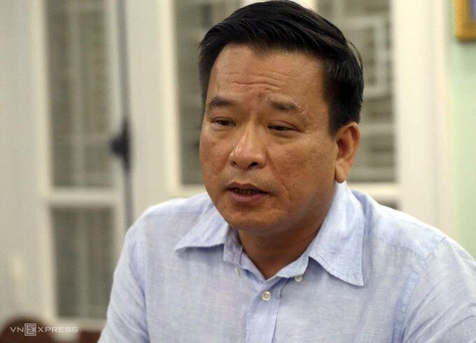 Ông Võ Tiến Hùng, Tổng giám đốc Công ty TNHH MTV thoát nước Hà Nội. Ảnh:Bá Đô