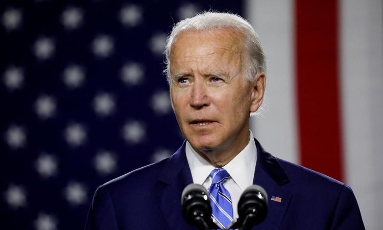 Joe Biden phát biểu tại một cuộc vận động tranh cử ở Wilmington, Delaware, hồi tháng 7. Ảnh: Reuters.