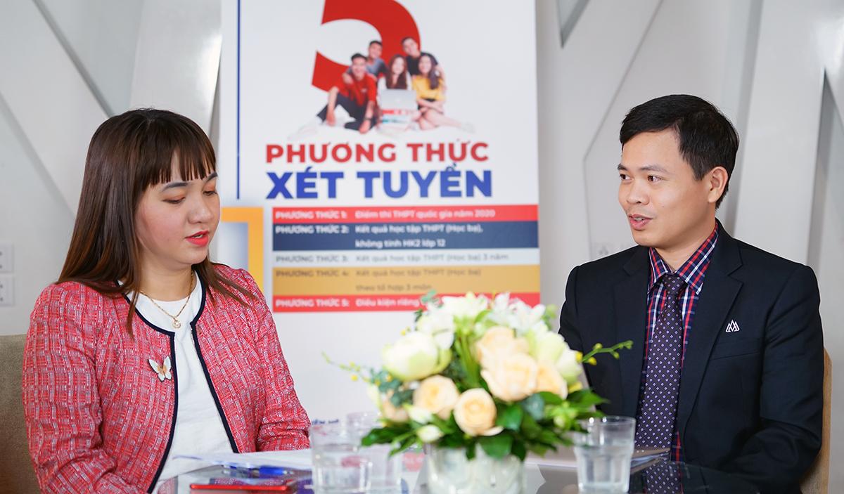 hó giáo sư, tiến sĩ Nguyễn Ngọc Vũ - Phó hiệu trưởng nhà trường, Tiến sĩ Nguyễn Thị Phương Nhung - Phó khoa Khoa Kinh tế và Quản trị
